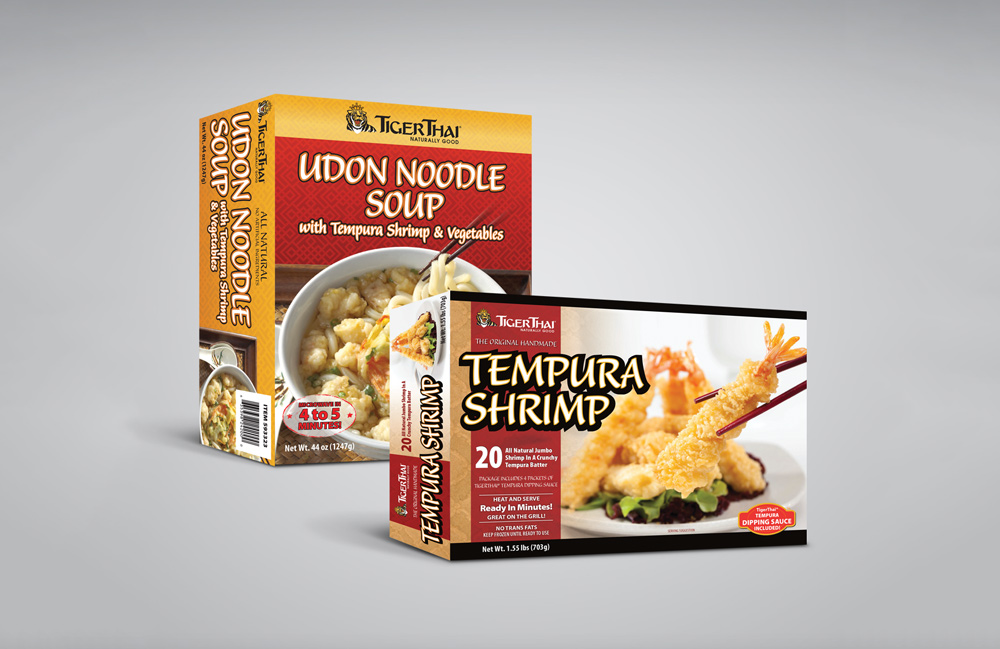Frozen Food Package Design - TigerThai, Scottsdale Arizona